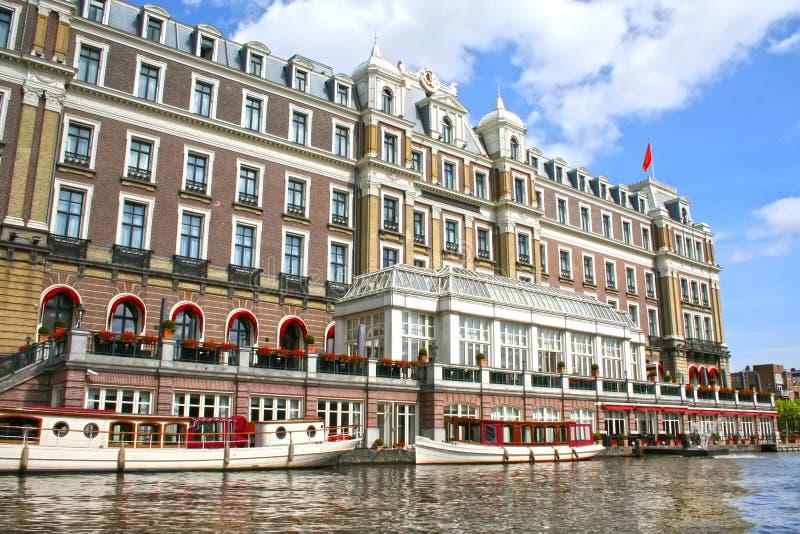 Amstel hotell i Amsterdam arkivbild