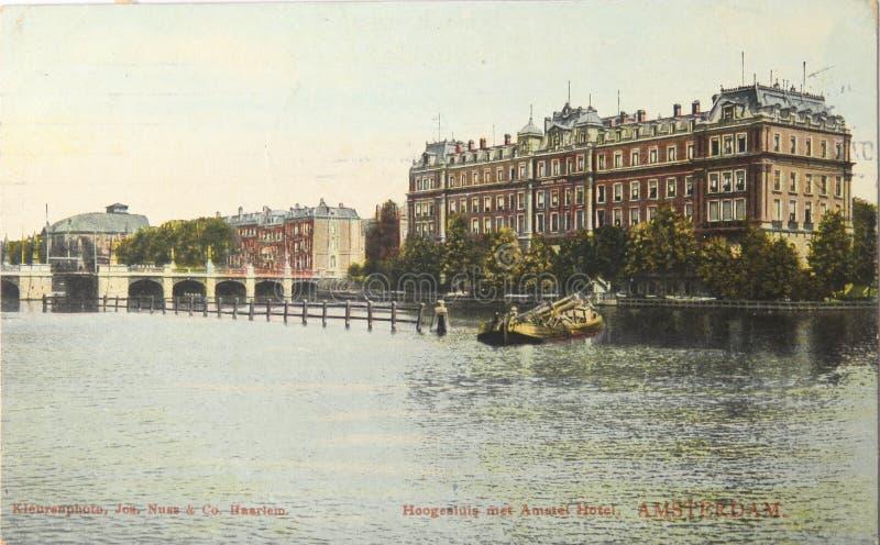 Amstelhotel à Amsterdam en 1907 photos stock