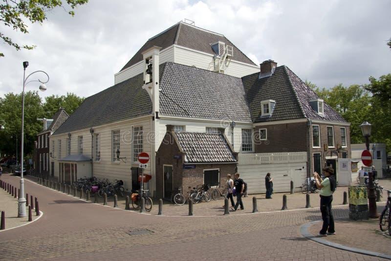 Amstelkerk Amsterdam royaltyfri fotografi