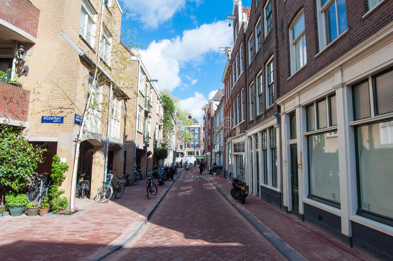 Amsterdão-centro do distrito de Jordaan, os Países Baixos fotos de stock