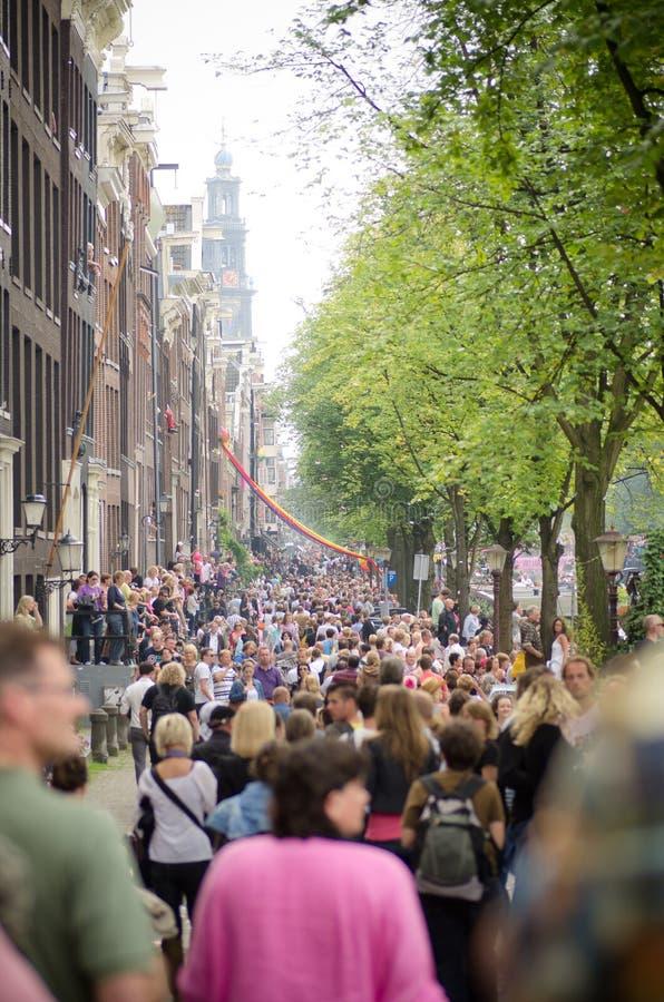 Amsterdão. Orgulho alegre 2011 foto de stock