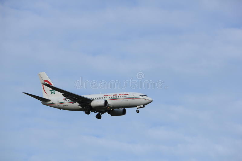 Amsterdão, os Países Baixos, julho, 15o 2016: CN-ROD Royal Air Maroc Boeing 737 foto de stock royalty free