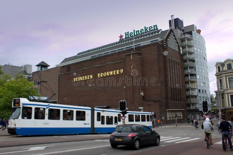 Amsterdão, Países Baixos - 30 de julho de 2011: Museu da fábrica da cerveja em A fotos de stock