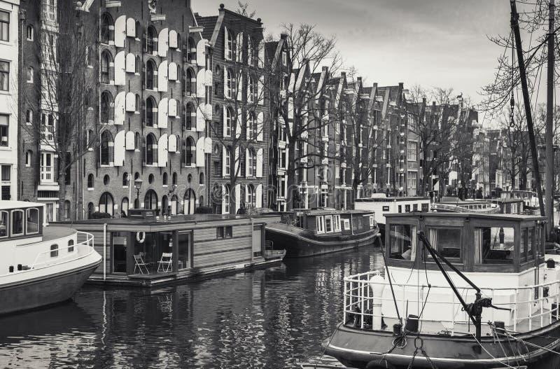 Amsterdão, Países Baixos Estilizado retro fotos de stock royalty free