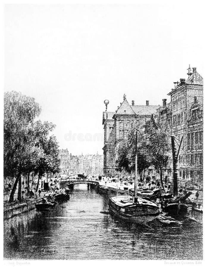Amsterdam—Nieuwezijds Voorburgwal stock images