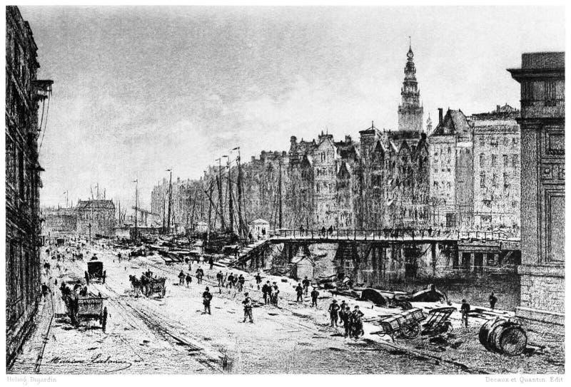 Amsterdam—the Damrak stock photos