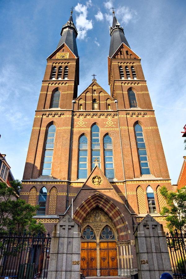 Amsterdam, église dans Jordaan, Hollande. image stock
