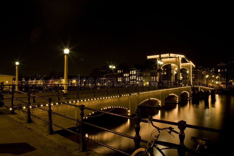 Amsterdam 1 noc zdjęcia royalty free