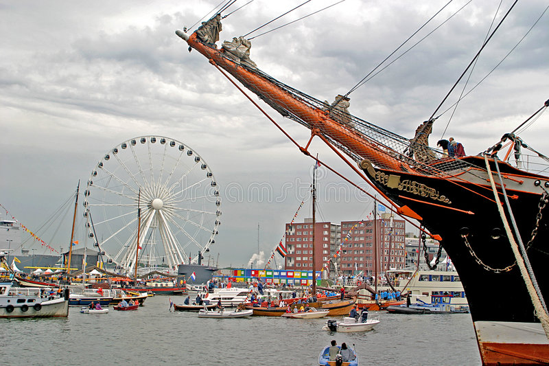 Amsterdam 2005 żagiel obraz royalty free