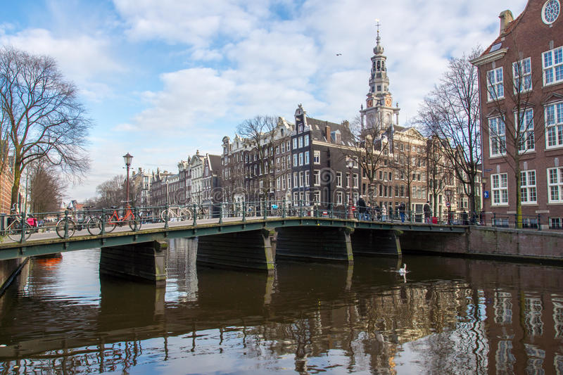 Download Amsterdam editorial image. Image of houses, clouds, tower - 28667965