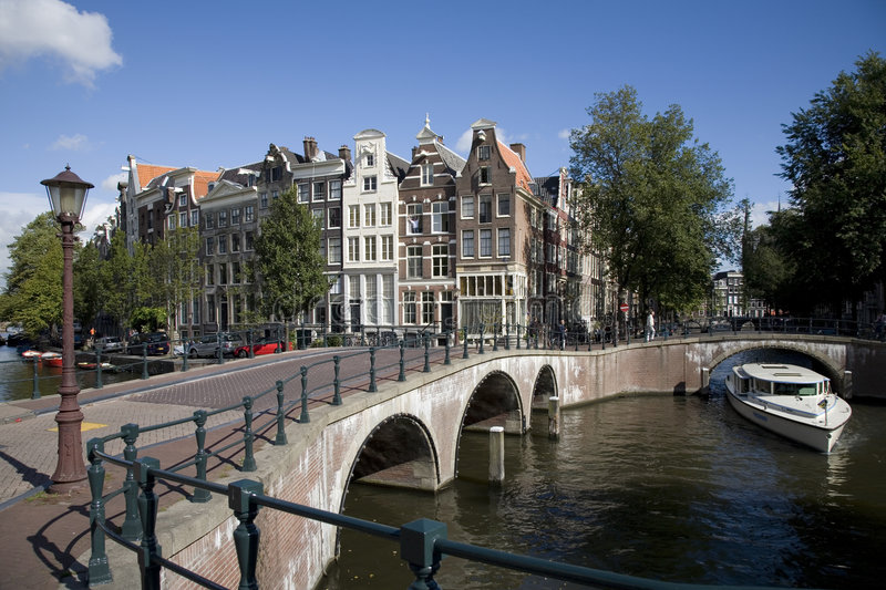 Amsterdam 4. Canal junction in Amsterdam, Holland4