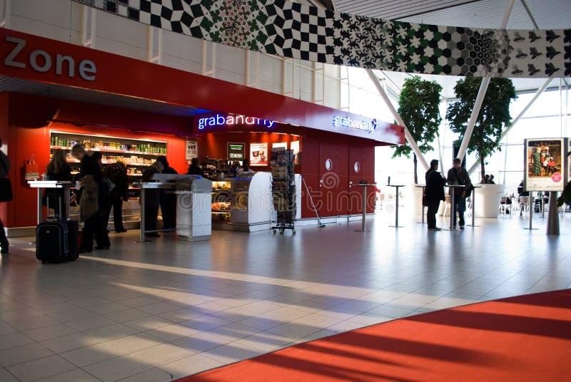 Amsterdam airport royalty free stock photo
