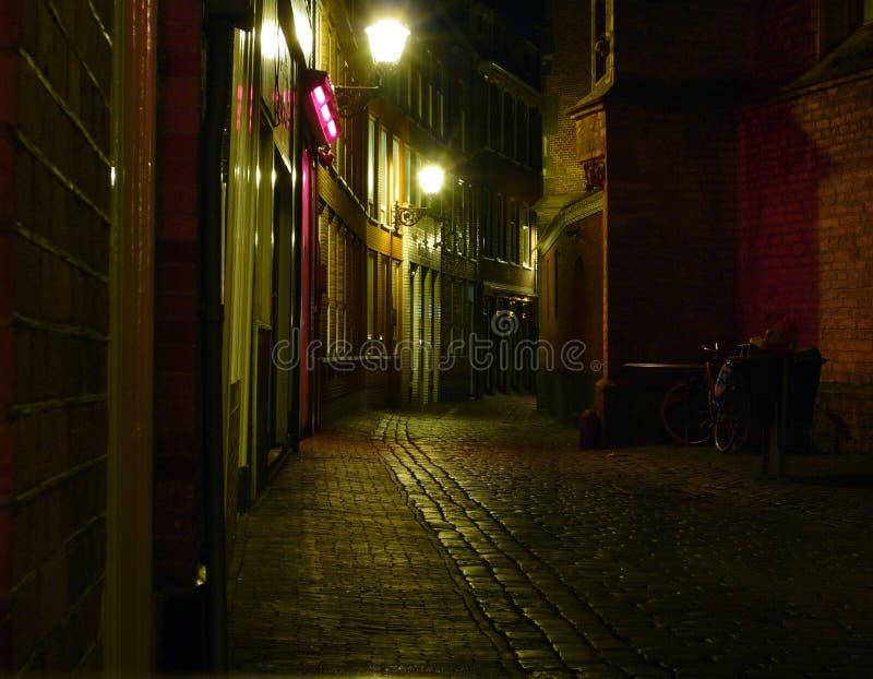 Amsterdam alla notte immagini stock