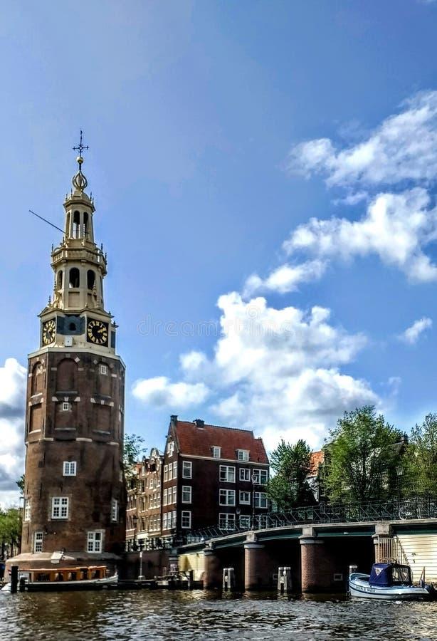 Amsterdam. Canal boat travel Architektur stock photography