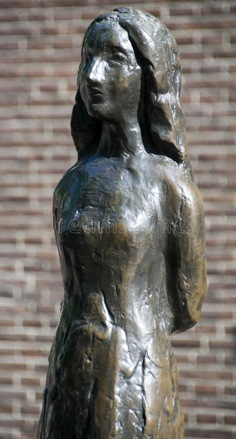 amsterdam Anne Frank holland staty arkivfoto