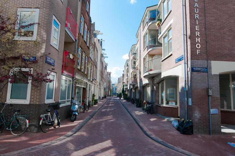 AMSTERDAM-APRIL 30: Jordaan district on April 30,2015 in Amsterdam, the Netherlands. royalty free stock photography