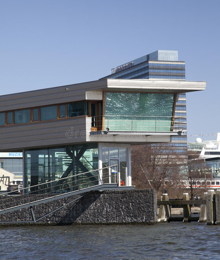 Amsterdam architecture from boat royalty free stock image