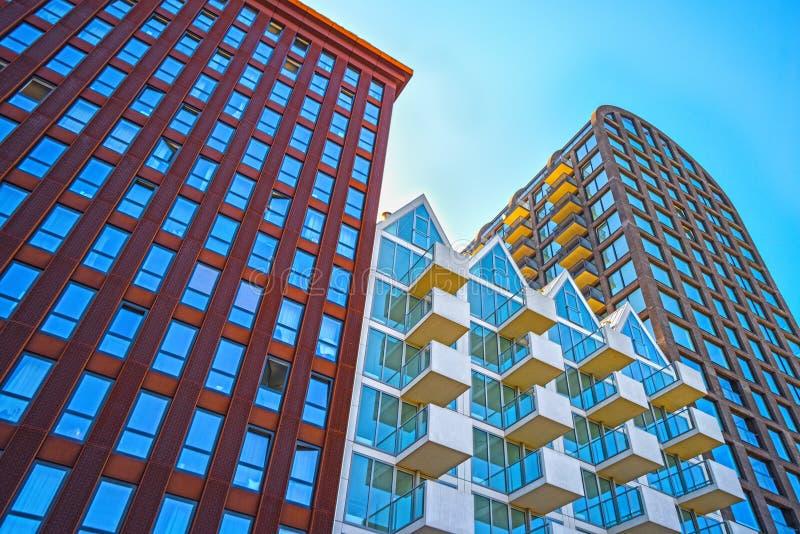 Amsterdam, Architektur, Student komplexes Nautique-Leben lizenzfreie stockbilder