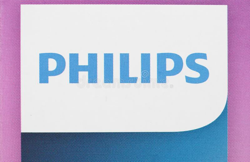 AMSTERDAM - AUG 2019: Philips sign stock photography
