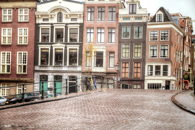 Amsterdam autumn. Beautiful places in Europe stock images