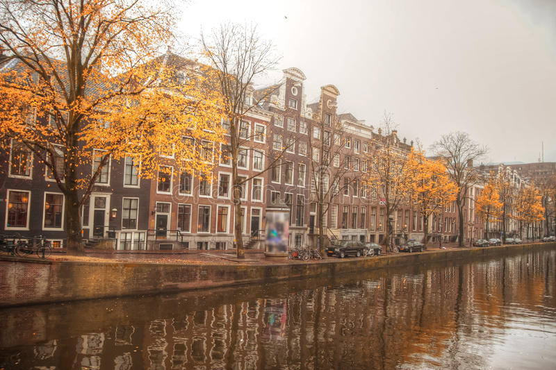 Amsterdam autumn. Beautiful places in Europe royalty free stock photos