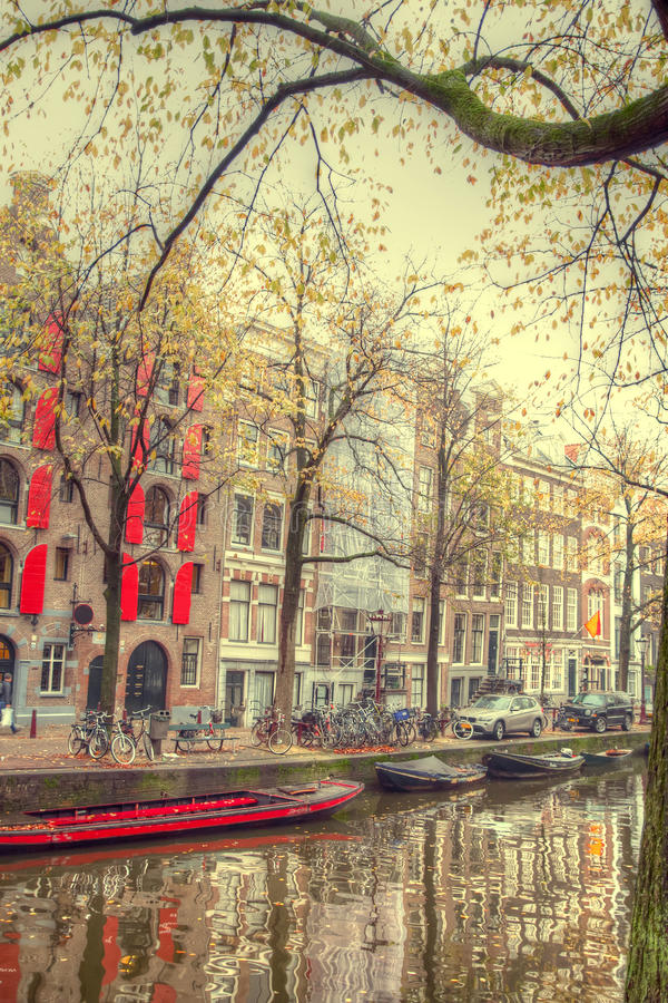 Amsterdam autumn. Beautiful places in Europe stock photography