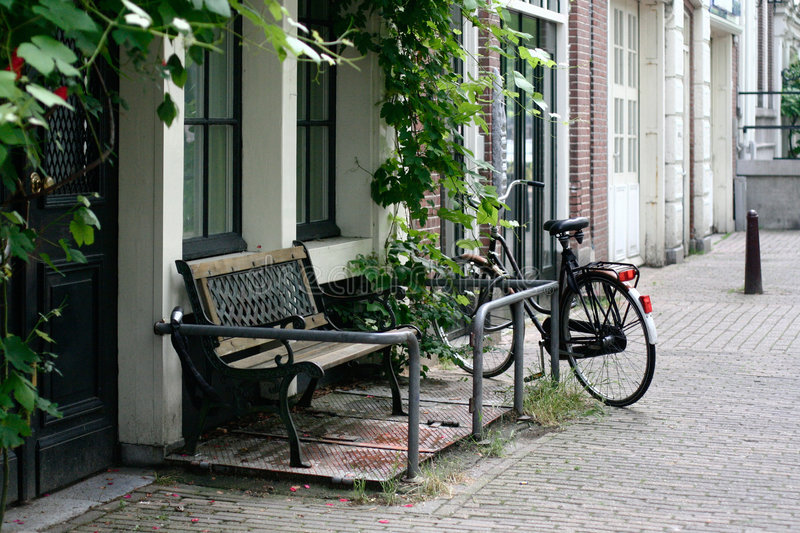Amsterdam bench stock images