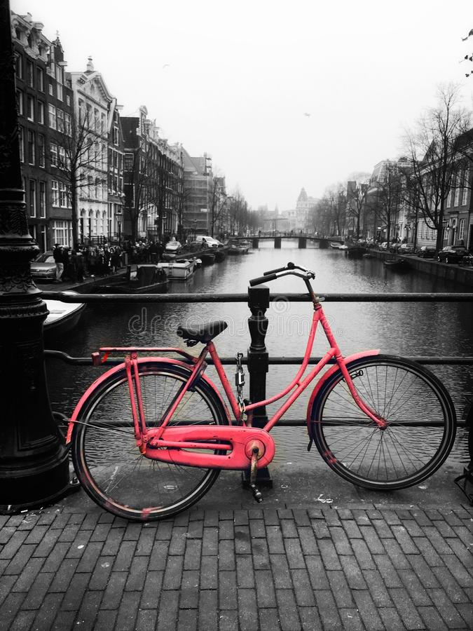Amsterdam bikes stock photography