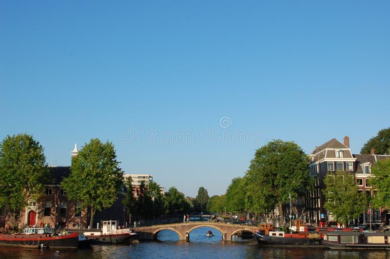 Amsterdam bridge stock image