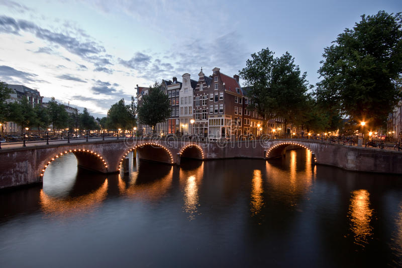 Download Amsterdam Canal stock image. Image of houses, typical - 26563895