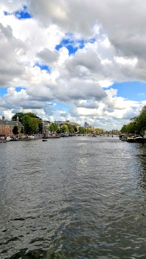 Amsterdam canal. Amsterdam Architektur city travel view stock photo