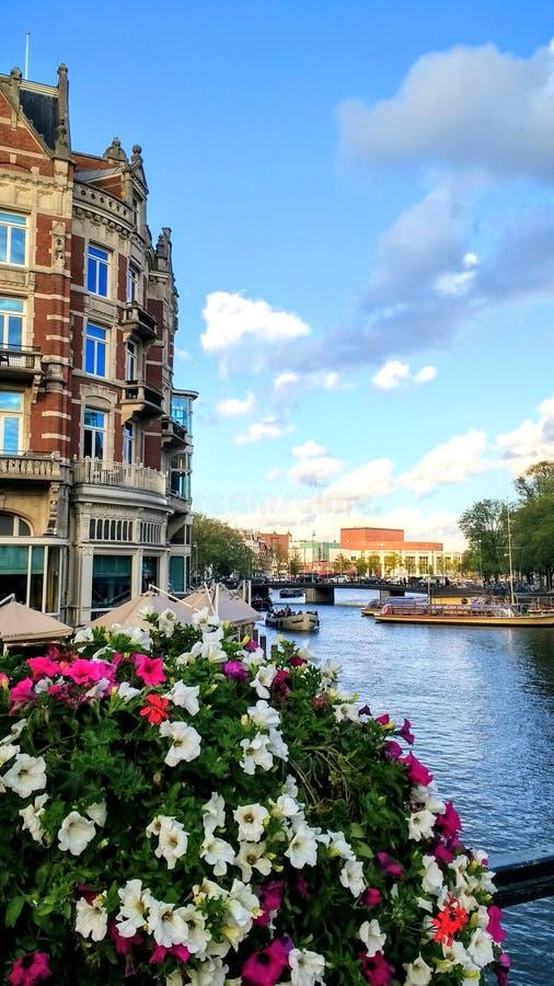 Amsterdam Canal Architektur. Amsterdam Architektur city travel view royalty free stock photography