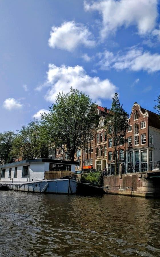Amsterdam Canal boat. Travel Architektur royalty free stock image