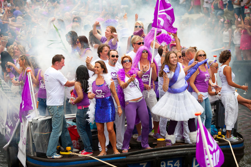 Amsterdam Canal Parade 2012 Editorial Photography