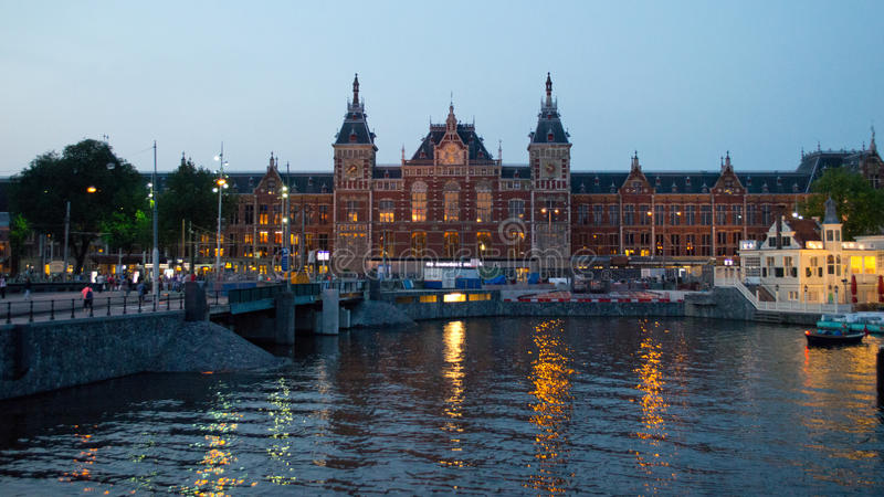 Amsterdam Centrail railway station royalty free stock image