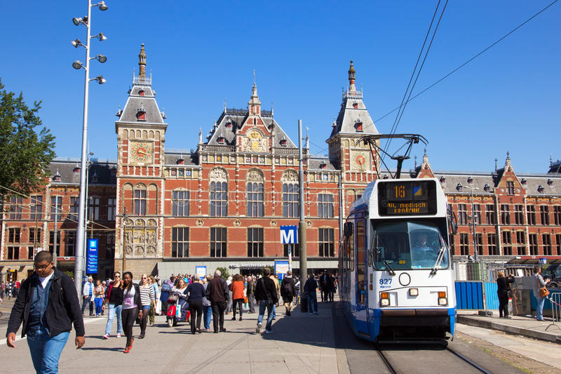 Amsterdam Central Station stock image