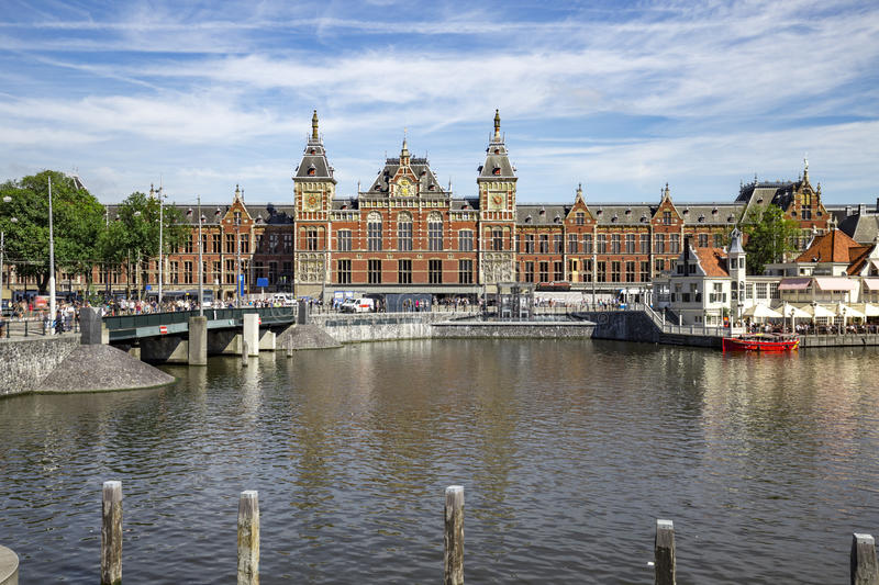Amsterdam Central Train Station royalty free stock image