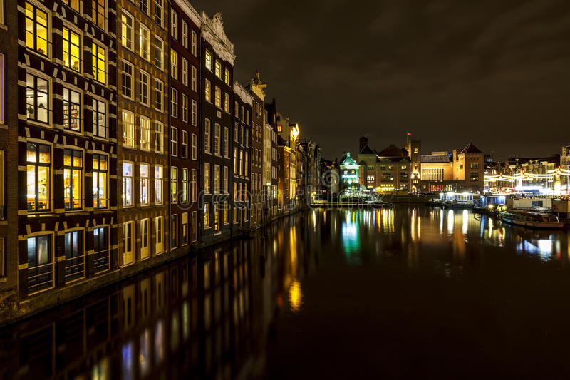 Amsterdam Central water reflection stock images