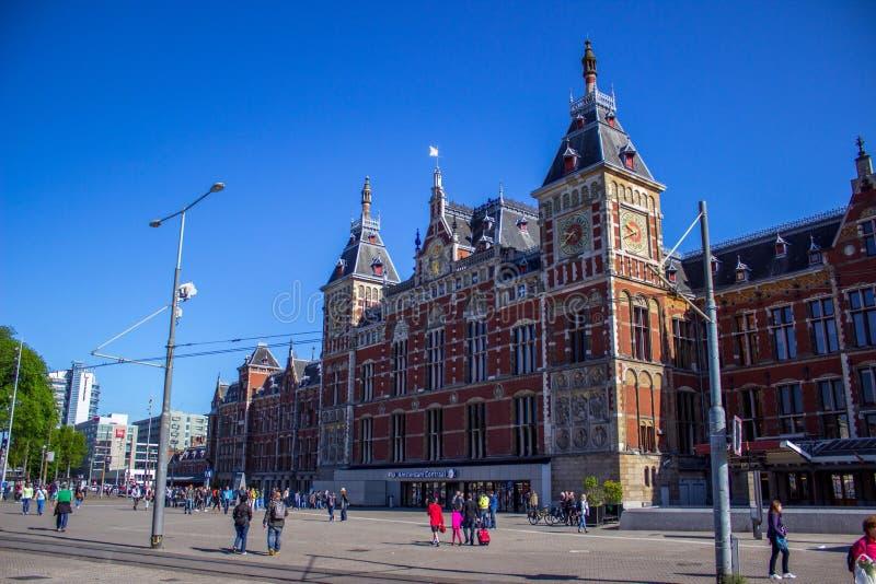 Amsterdam centrali stacja obraz royalty free