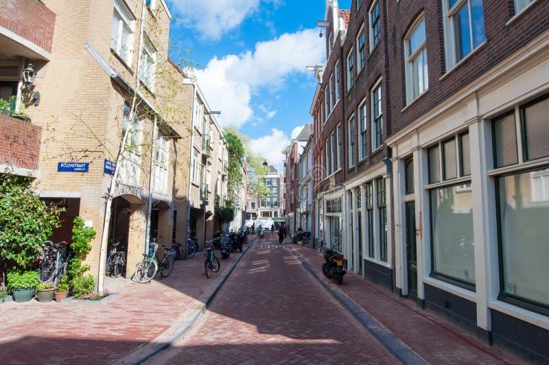 Amsterdam-centro del distrito de Jordaan, los Países Bajos fotos de archivo