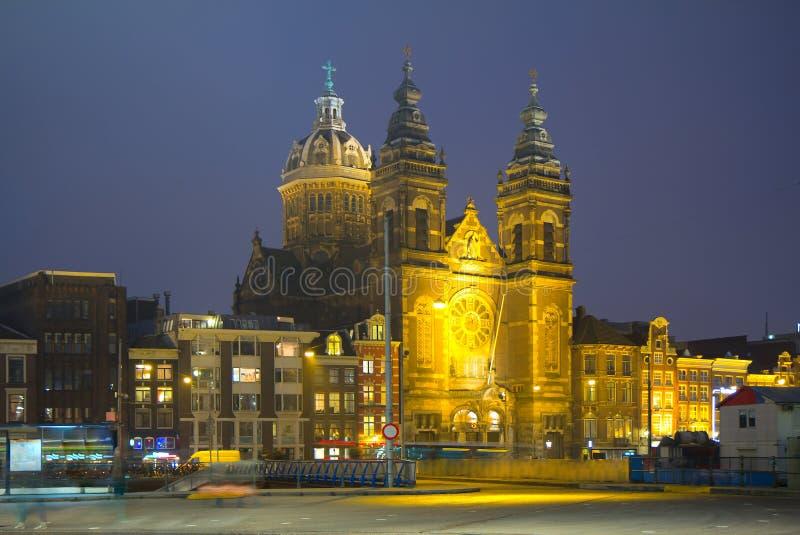 Amsterdam. The Church of St. Nicholas. stock photo