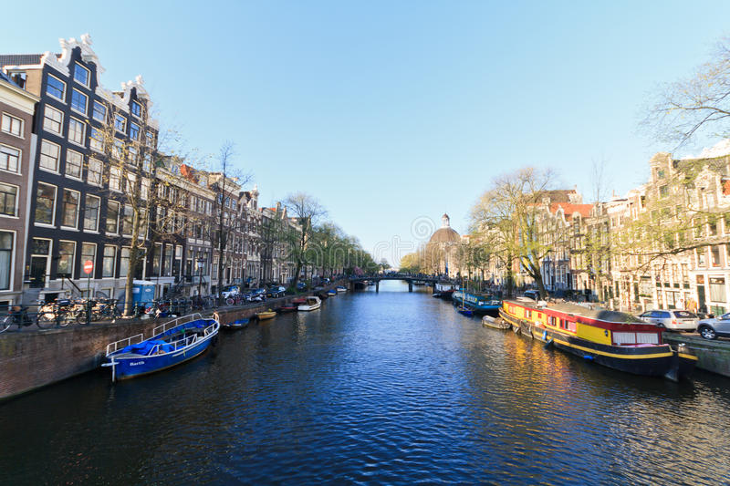 Download Amsterdam city view editorial stock image. Image of canal - 24782029