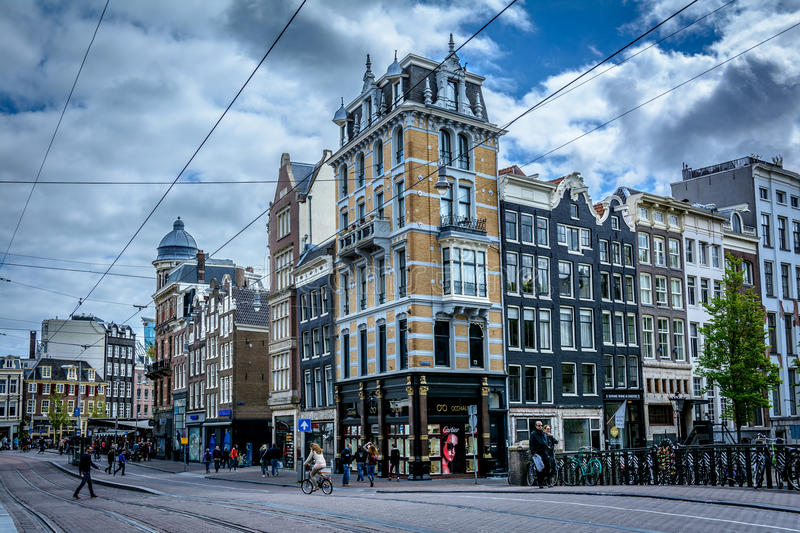 Amsterdam, the city of youth royalty free stock photos