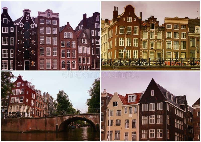 Amsterdam-Collage lizenzfreies stockfoto