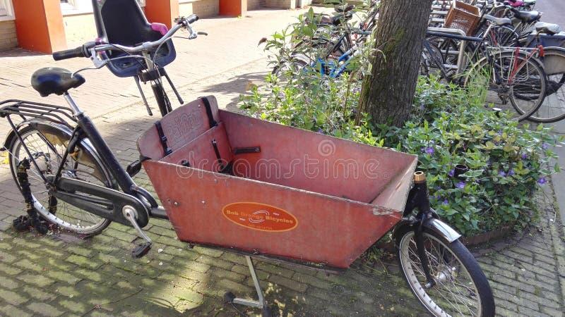 amsterdam cykel royaltyfria bilder