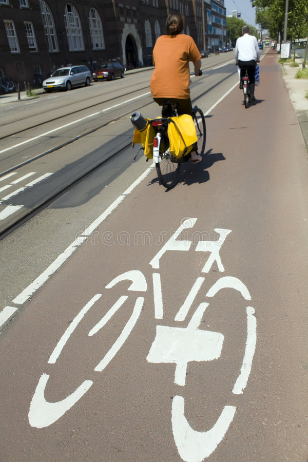 amsterdam cykla arkivbilder
