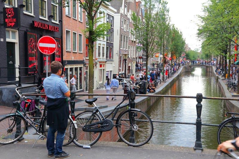 Amsterdam czerwone światło zdjęcia royalty free