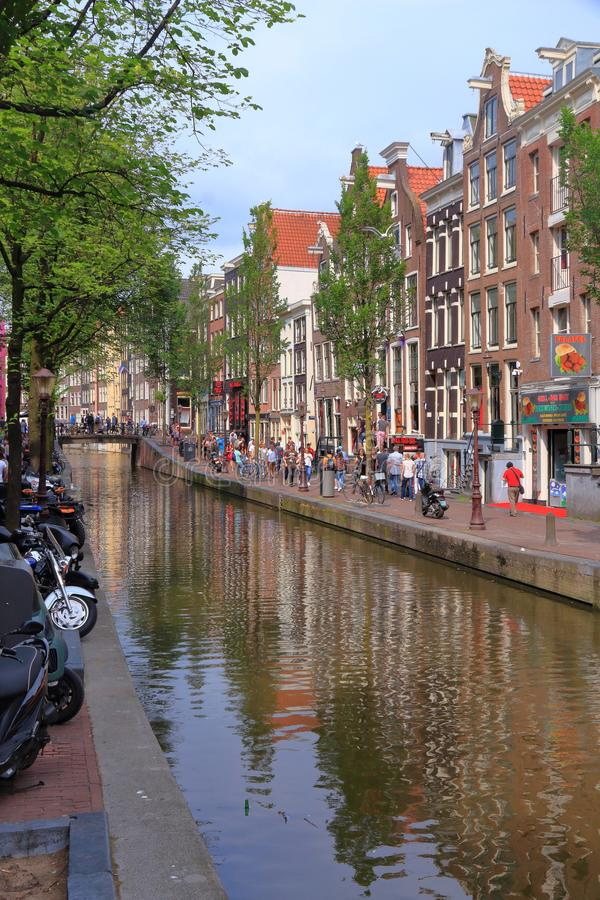 Amsterdam czerwone światło obrazy stock