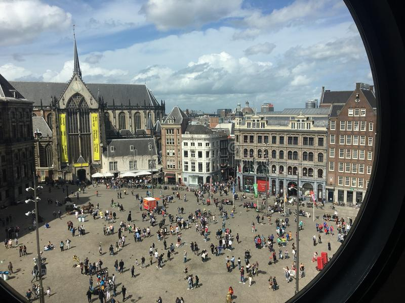 Amsterdam Damsquare zdjęcie royalty free