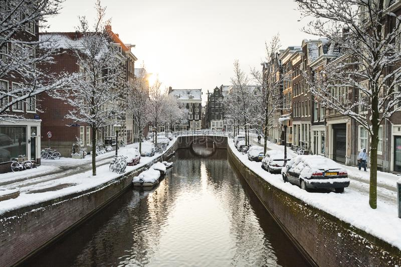 Amsterdam in de winter, Amsterdam in winter stock image
